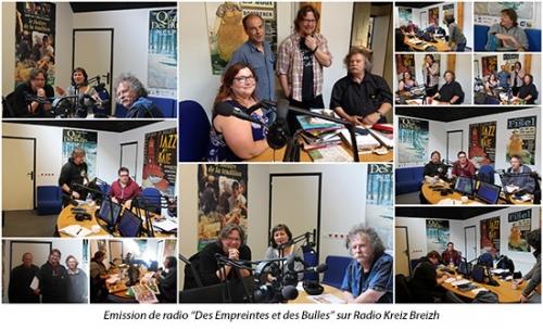 Emission de radio des empreintes et des bulles sur Radio Kreizh Breiz