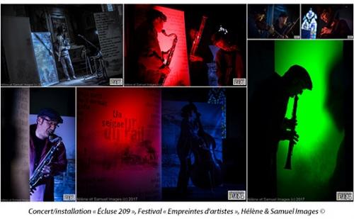 concert-installation«Ecluse 209», Festival «Empreintes d'artistes»,  Hélène & Samuel Images ©